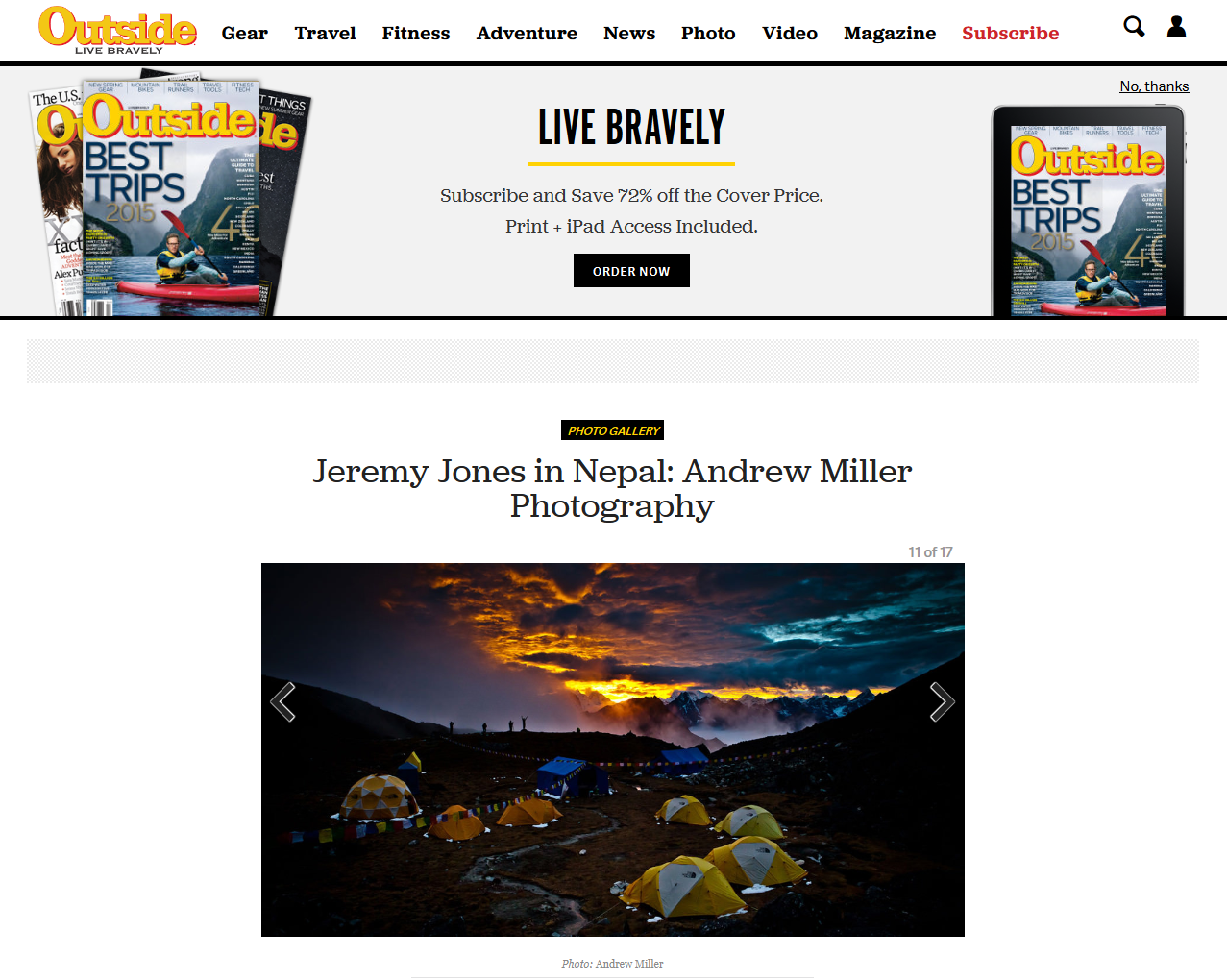 Jeremy Jones in Nepal Andrew Miller Photography